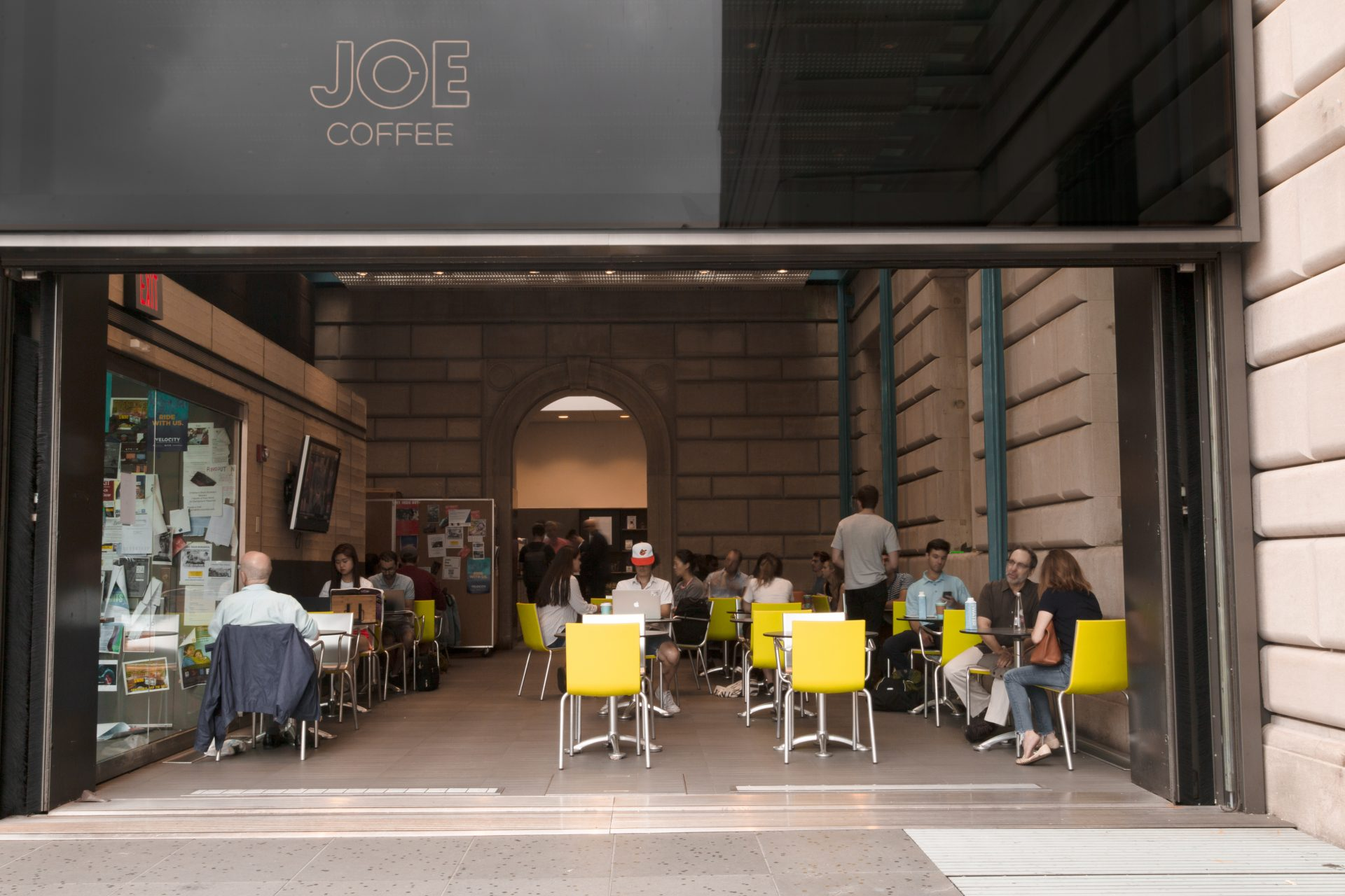 Joe Coffee Columbia Pulitzer Hall Facade
