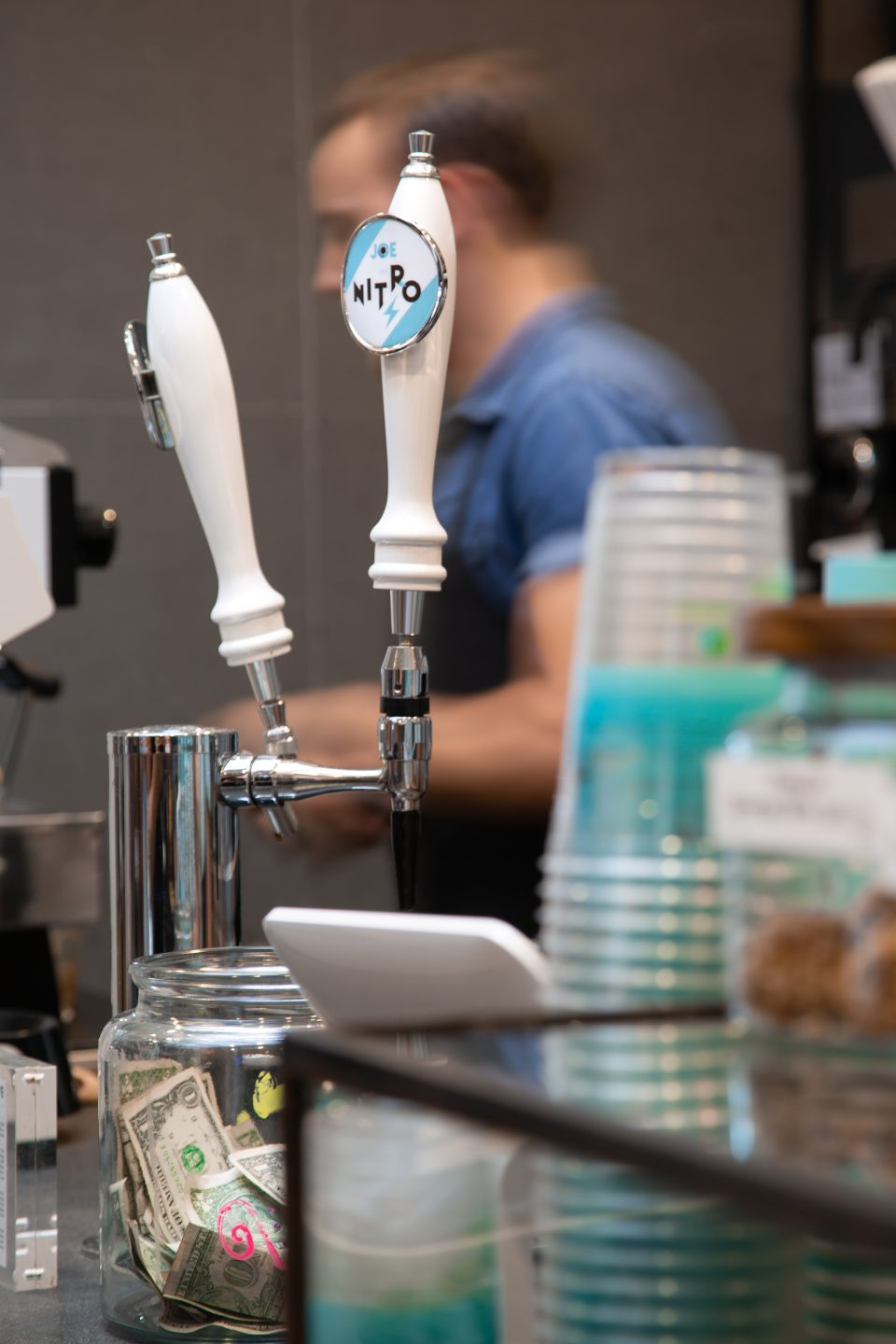 Joe Coffee Columbia Pulitzer Hall Cold Brew Taps