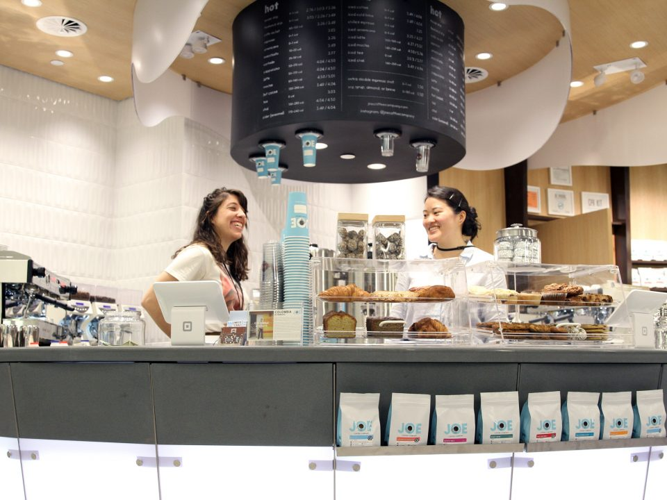 Baristas at Joe Coffee World Trade Center