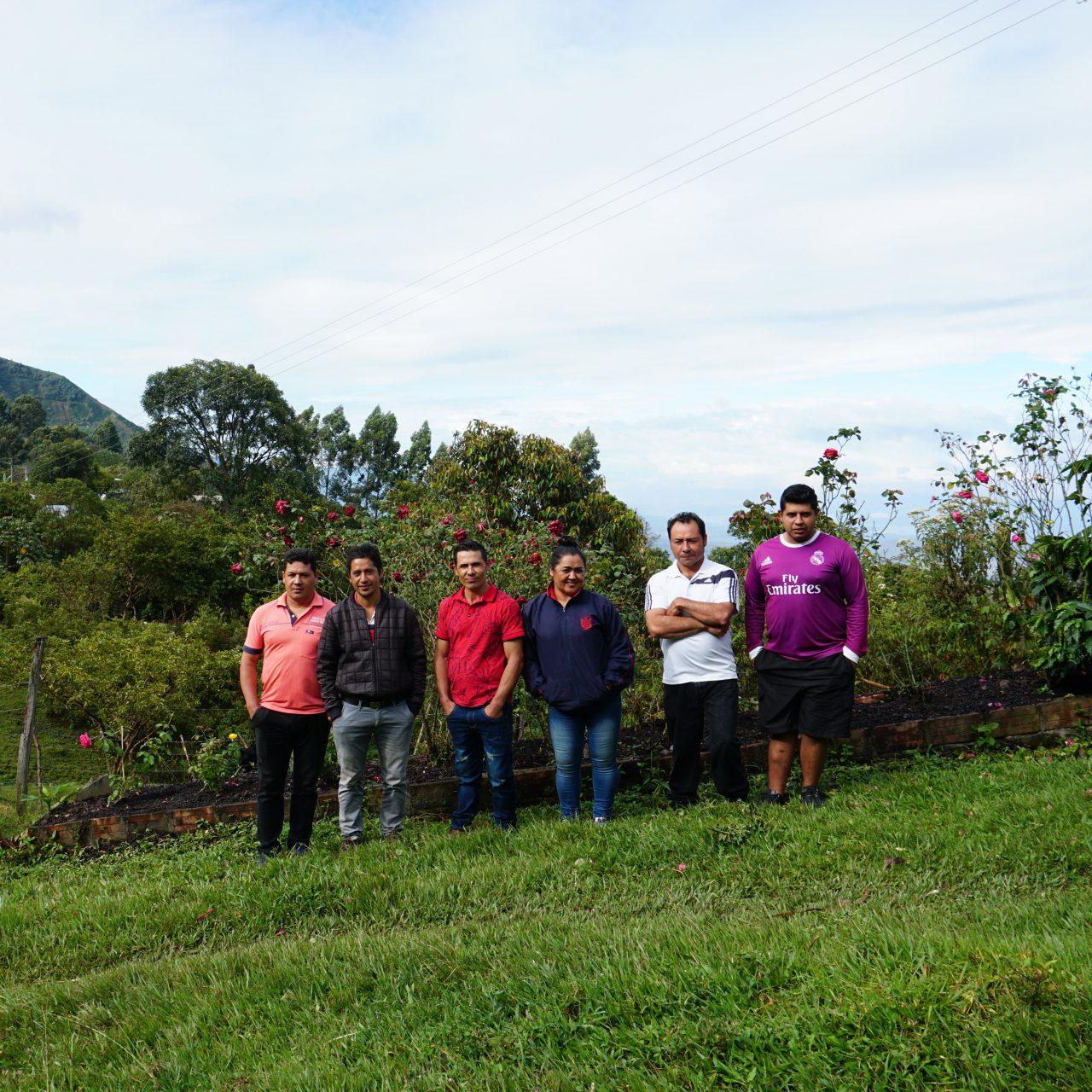 The Guarnizo siblings on their farm