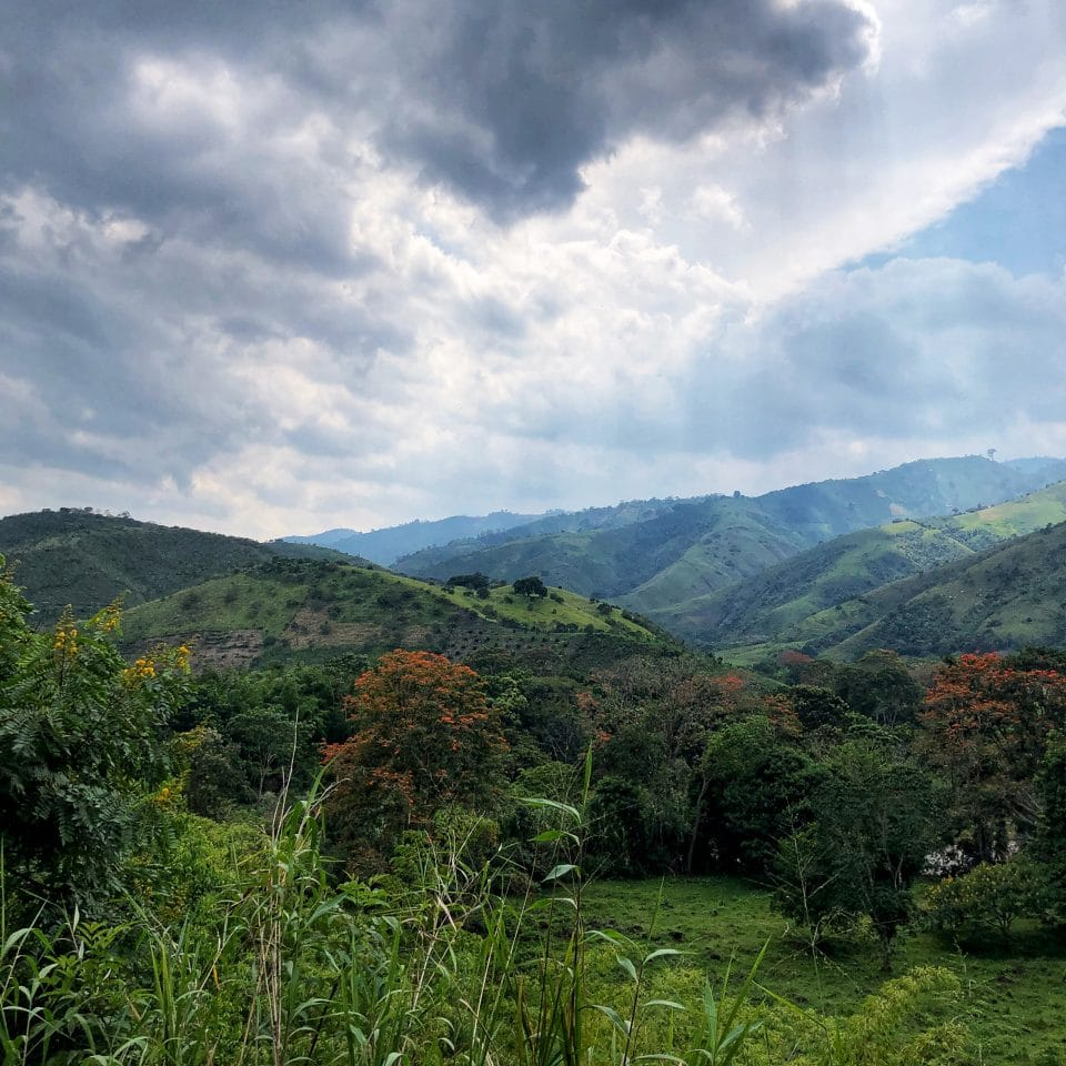 Mountainous landscape of Guadalupe, Huila, Colombia