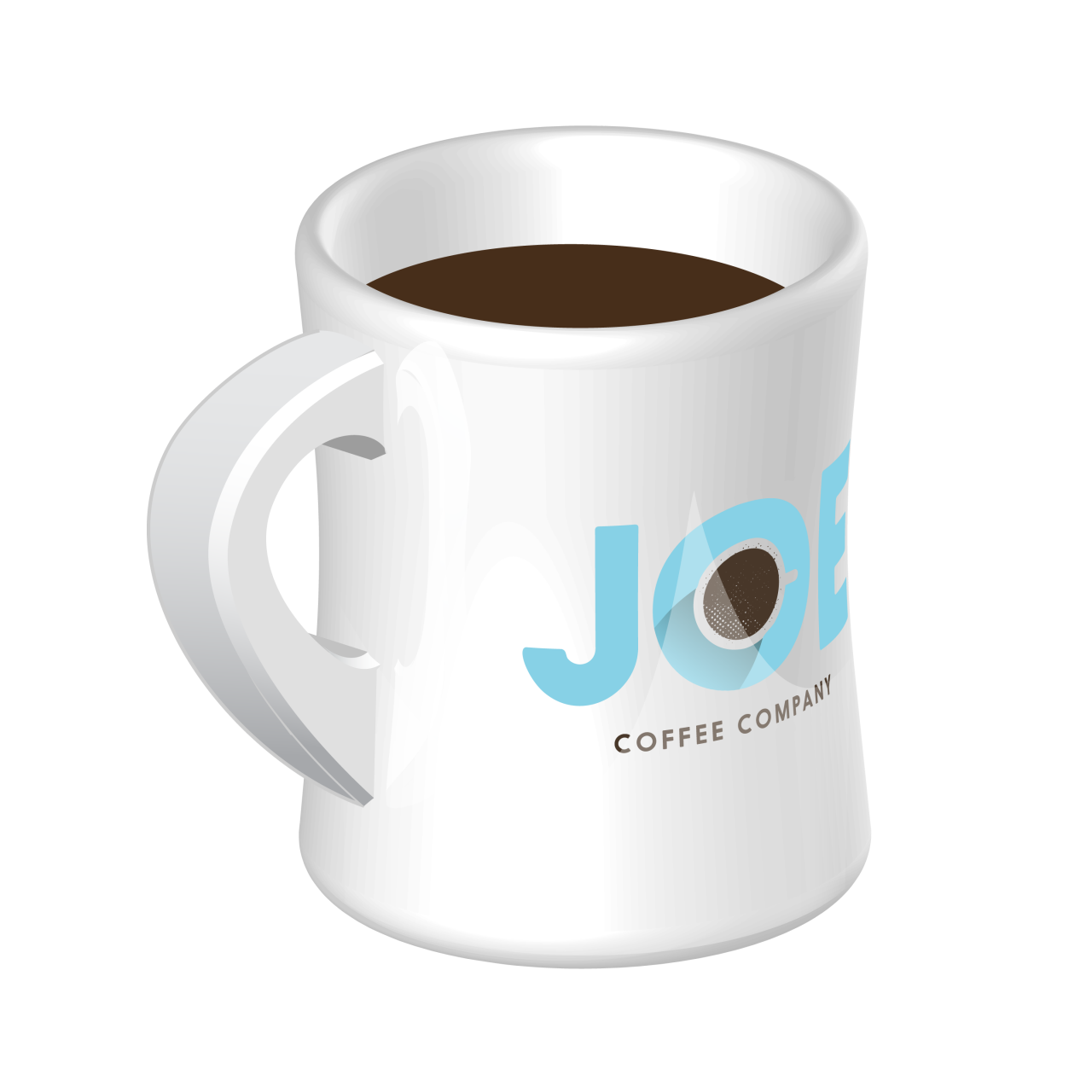 Diner mug with a Joe Coffee Company logo