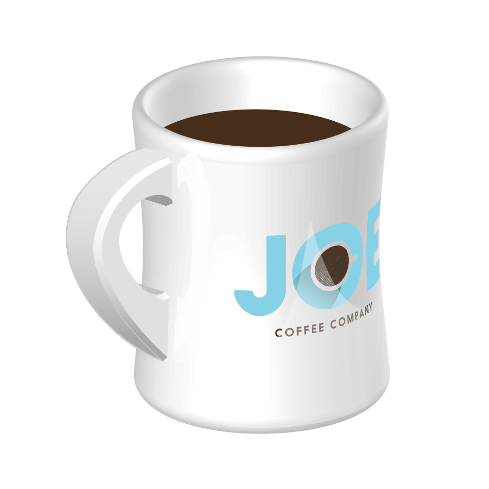 Diner mug with a Joe Coffee Company logo