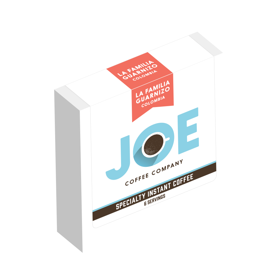 Joe Coffee La Familia Guarnizo specialty instant coffee