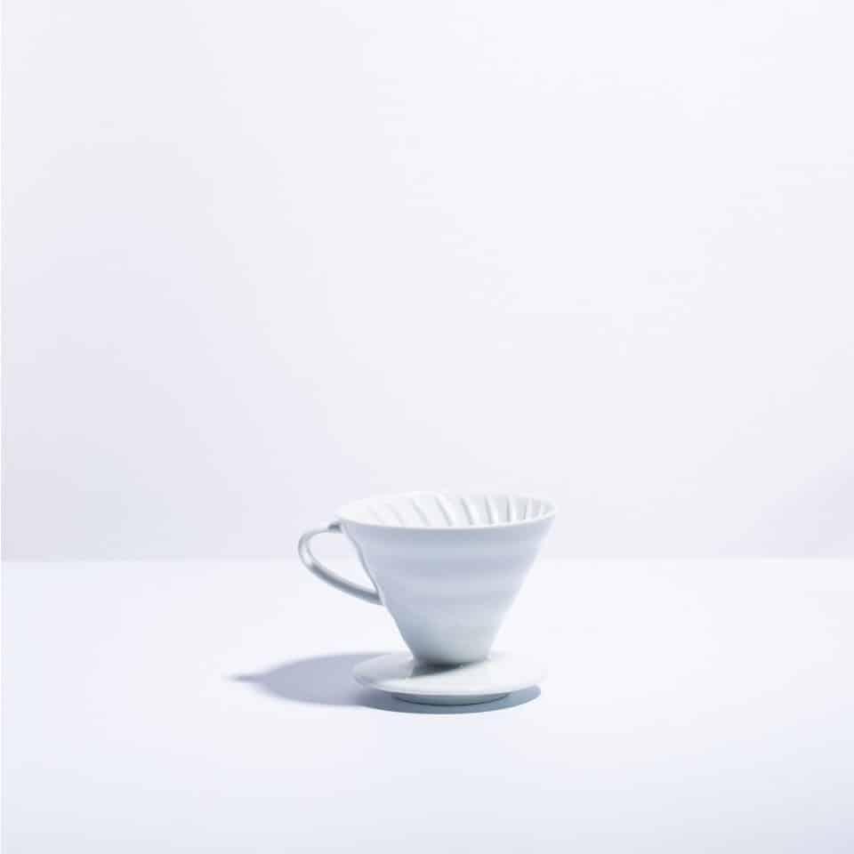 white ceramic v60