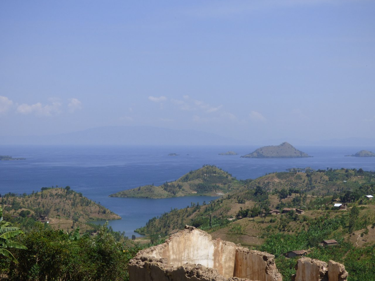 Mountainous and water view from Ejo Heza