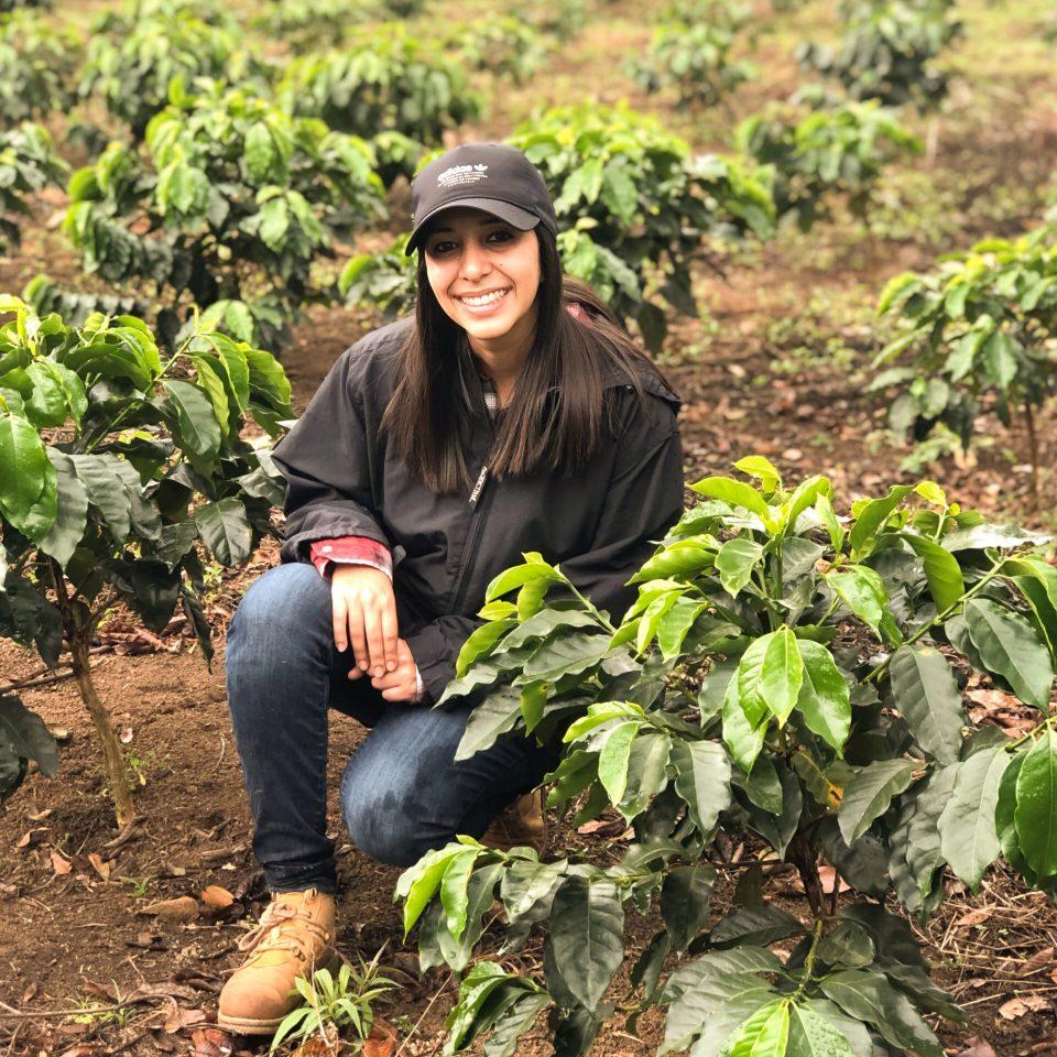 Andrea Rubi on her farm Finda Ruland 2 in Honduras