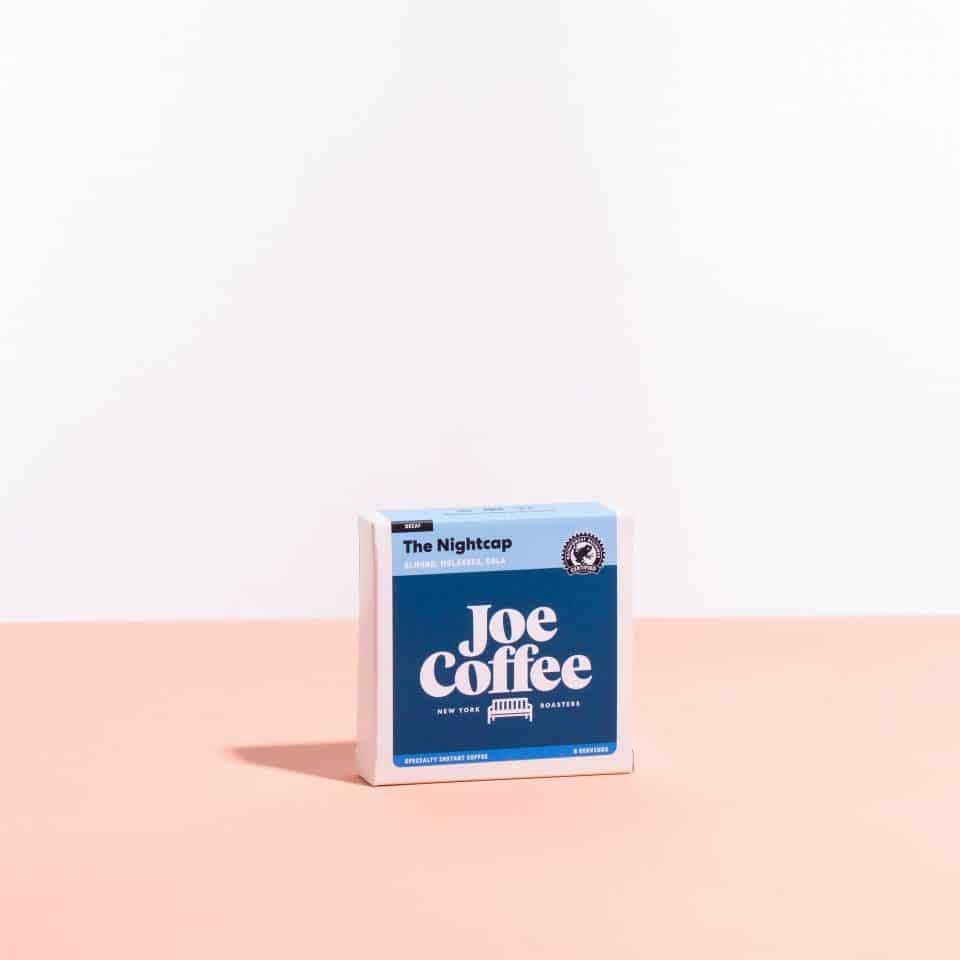The Nightcap instant coffee box