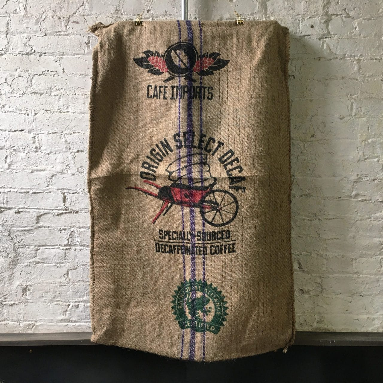 Swiss Water Decaf Jute Bag