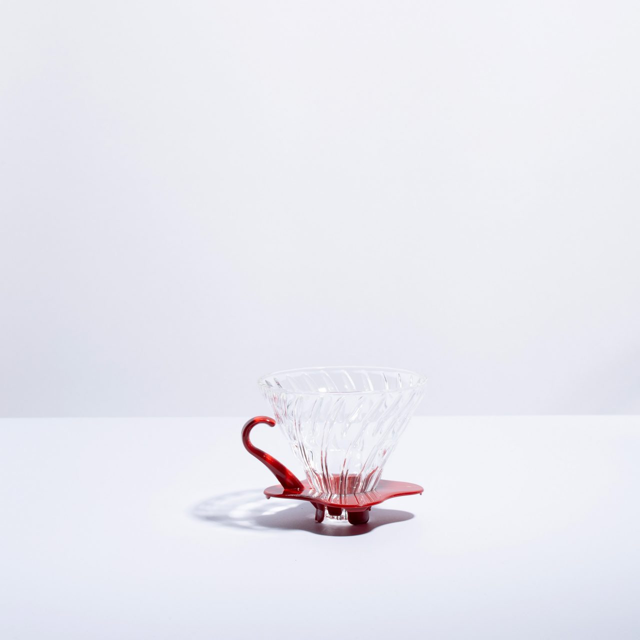 V60 Glass Dripper Red