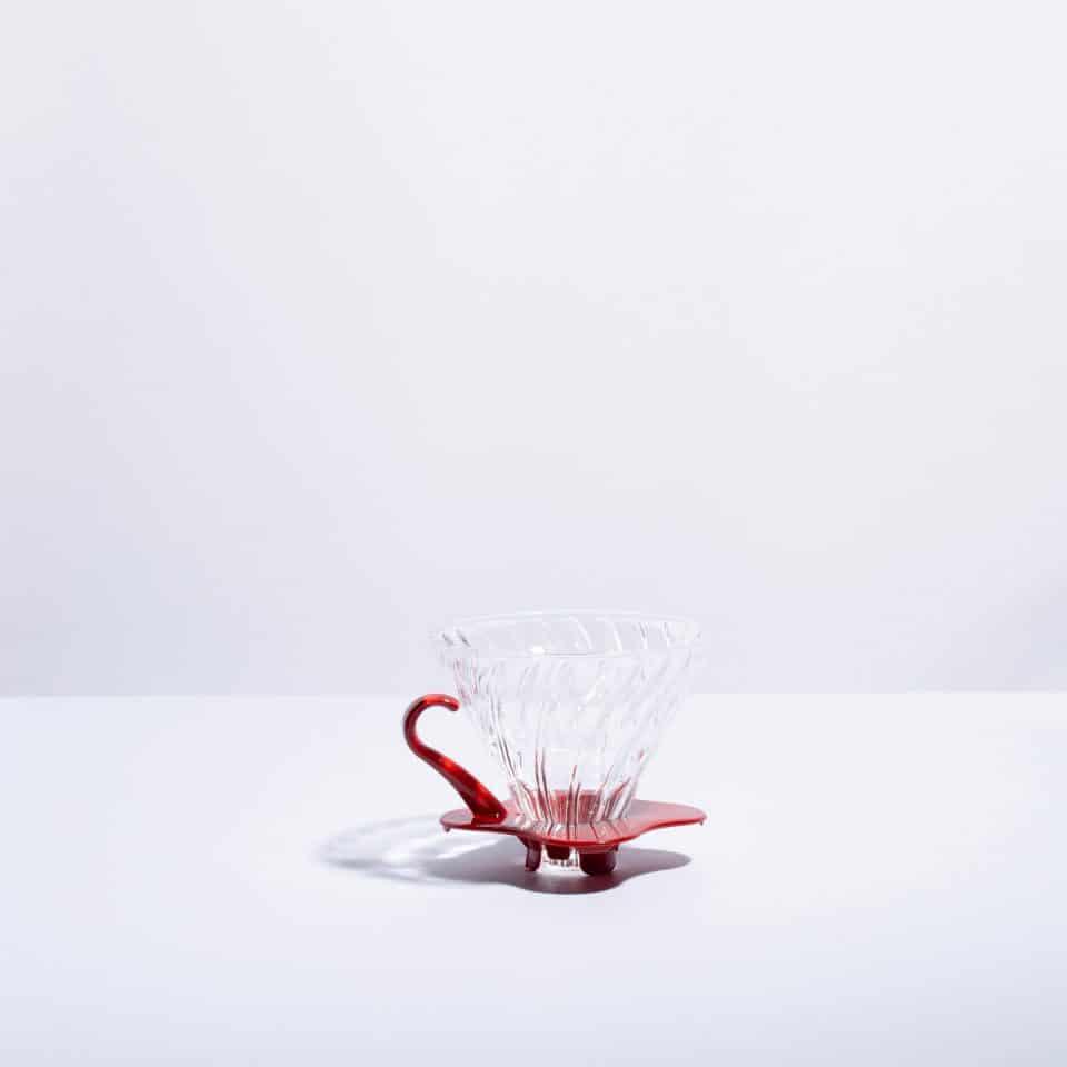 V60 Glass Dripper Red