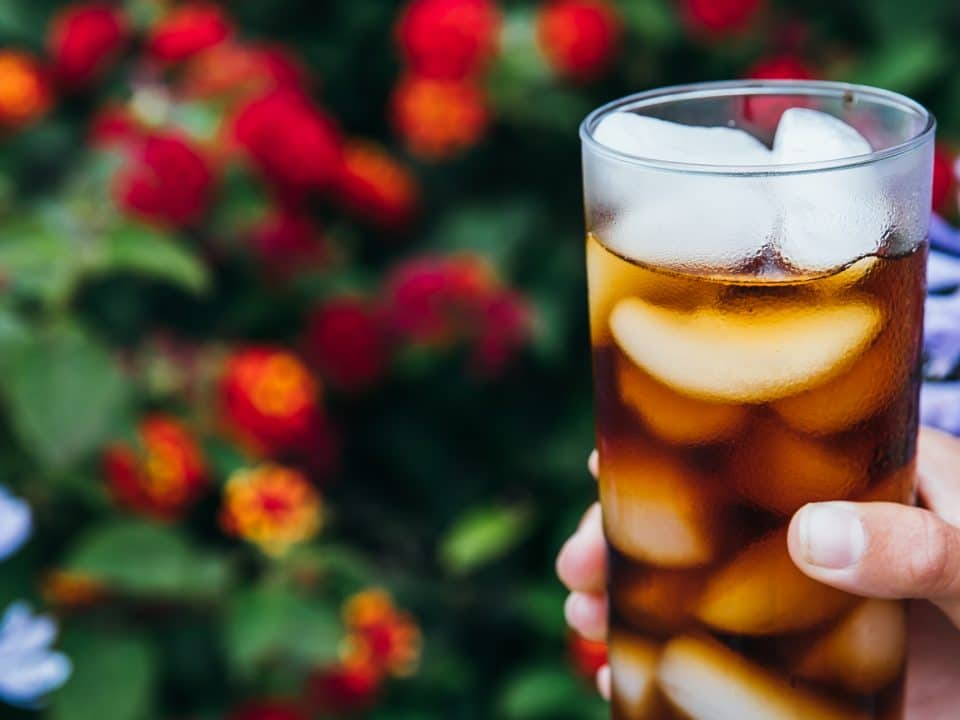 Glass of homemade cold brew