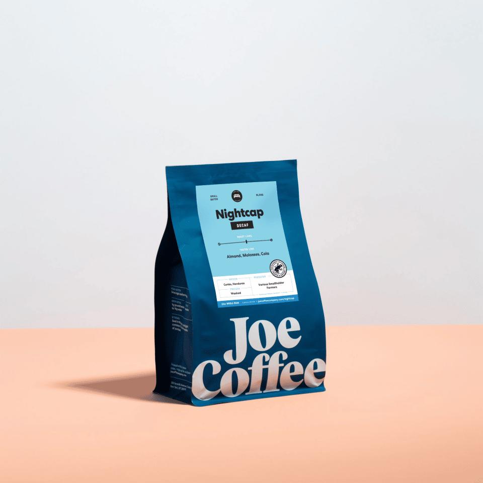 12oz bag of Nightcap Decaf coffee
