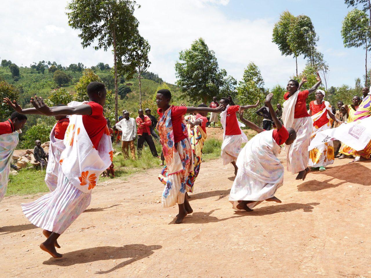 Women of Turihamwe group dancing